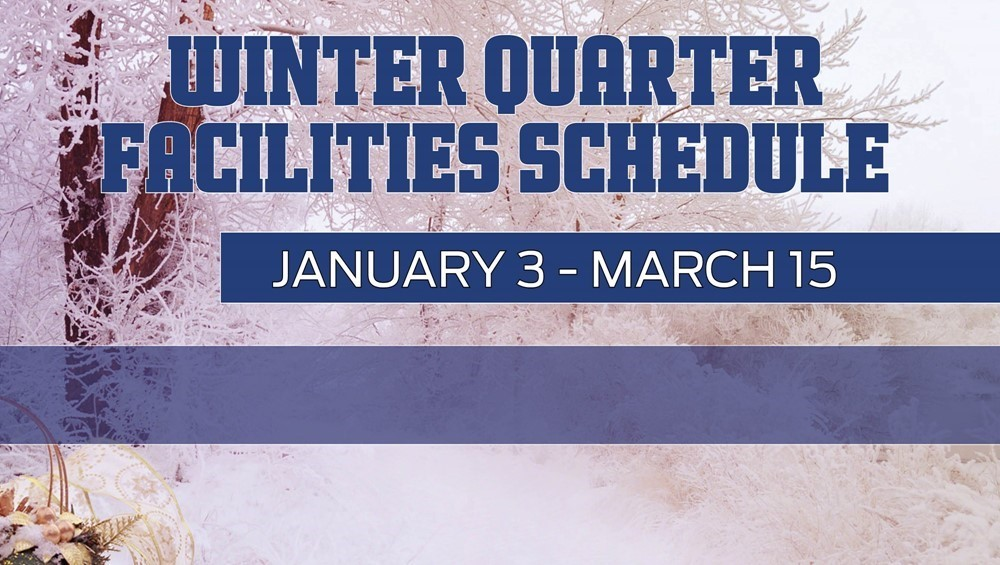 Winter Quarter 17 schedule outside
